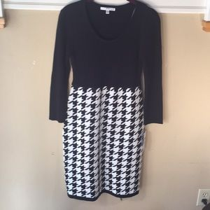Studio One Black and White Knit Dress NWT